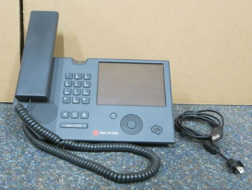 Polycom CX700 IP VoIP Business Desktop Phone 1668-31001-002 + Handset, USB Cable
